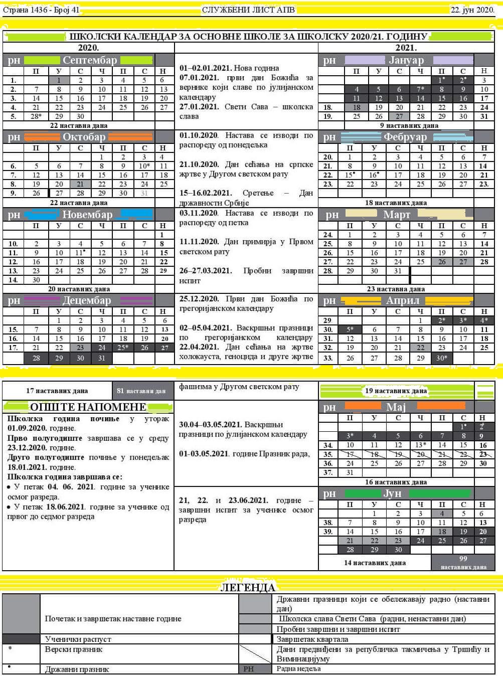 kalendar-Vojvodina